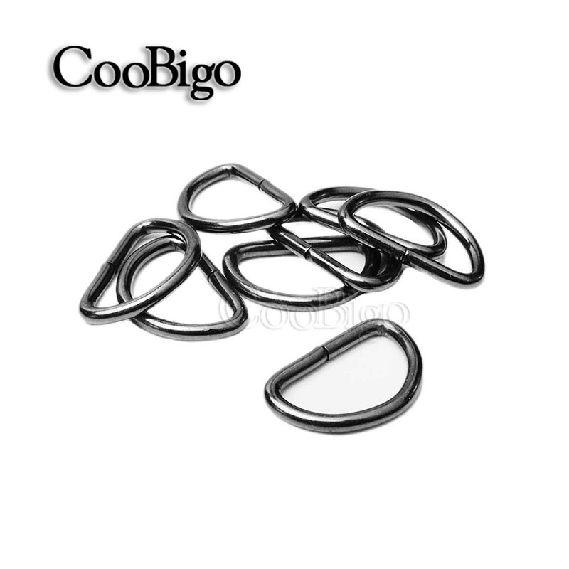 50pcs 3420mm Thickness 2 3mm Nonwelded Dee Rings Gun Black