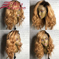 Natural 180 Density Front Lace Wigs Ombre Full Lace Human Hair Wigs Wavy Lace Front Human Hair Wigs Ombre Human Hair Wigs