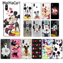 MaiYaCa belleza beso Mickey Minnie Mouse funda de teléfono para Xiaomi Redmi4X 6A S2 Go Redmi 5 5Plus Note4 Note5 7 note6Pro(China)