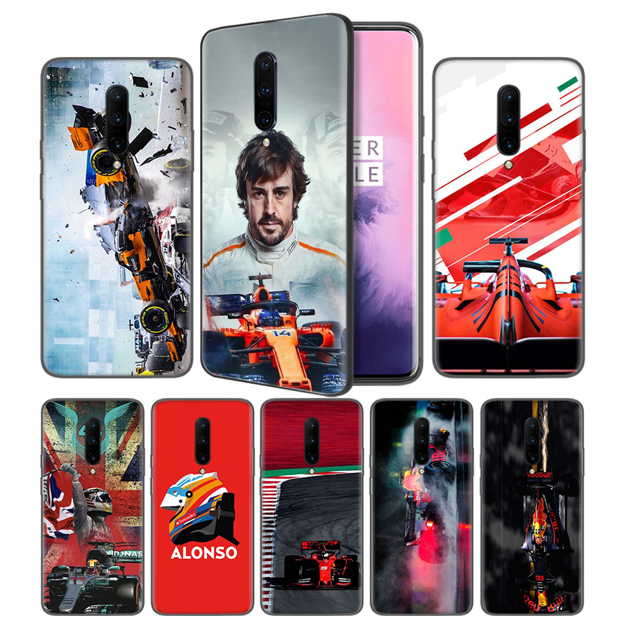 Fernando Alonso Soft Black Silicone Case Cover for font b OnePlus b font 6 6T font