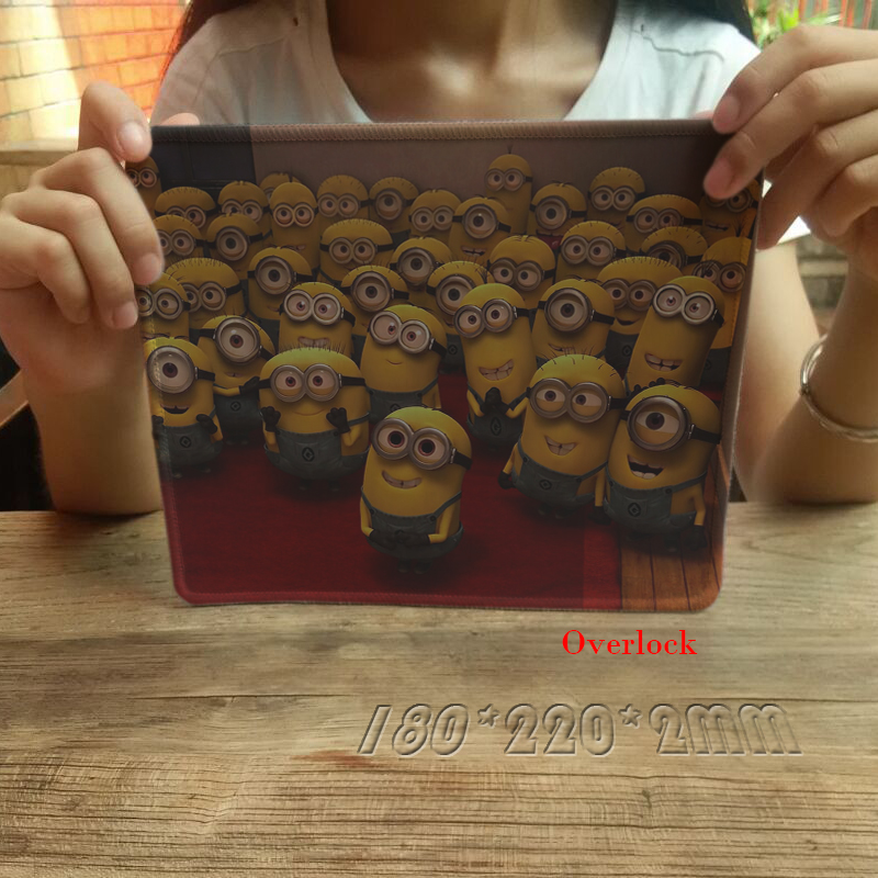 New Anti-Slip PC Anime Despicable Me Gaming Mousepad Black Soft Rubber Overlock Mice Mat Pad for Computer Optical Pads