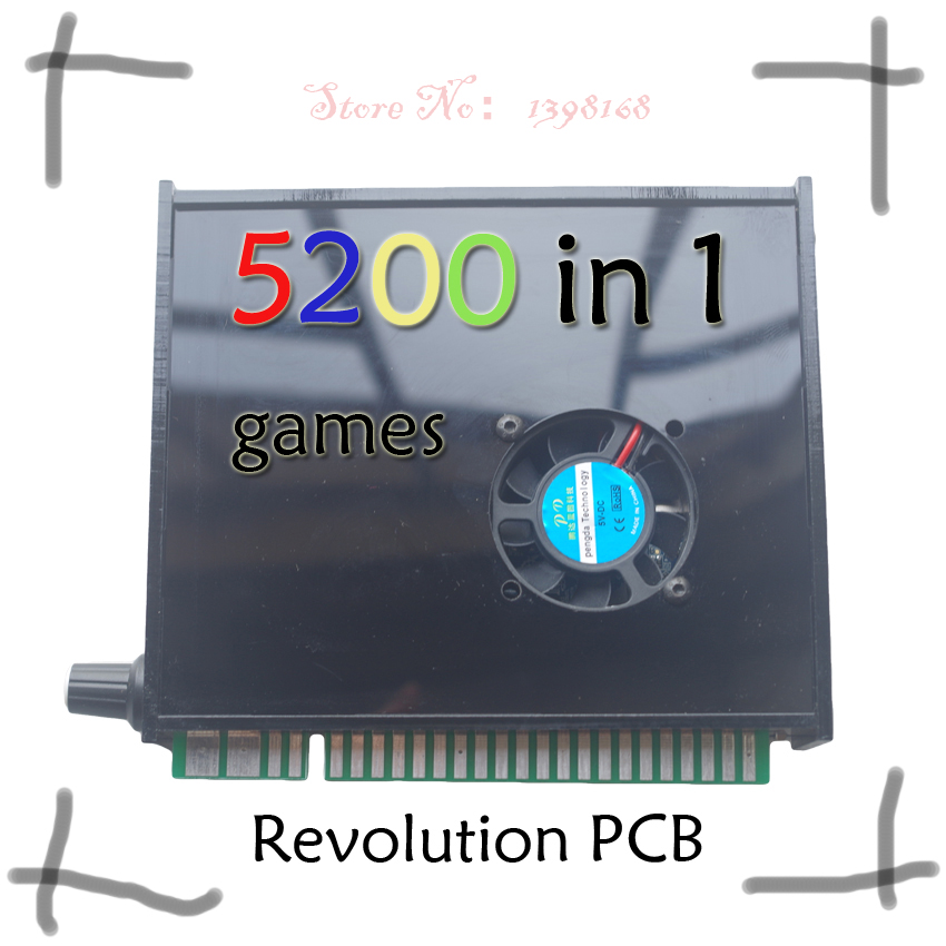 5200 in 1 arcade multi game PCB jamma Arcade cabinet ox WITH VGA OUTPUT Support save game RUN 3D GAMES video game board
