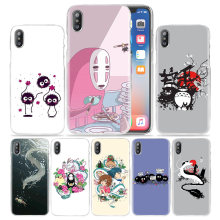 Case para iphone 5 XS Max XR X 10 7 7 S 8 6 6 S Plus 5S SE 5 4S coque 4 5C Limpar Disco PC Tampa Do Telefone Totoro Studio Ghibli Spirited(China)