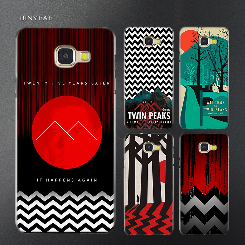 BINYEAE Welcome Twin Peaks Transparent Case Cover for Samsung A5 A3 A8 A7 2017 2018 2016