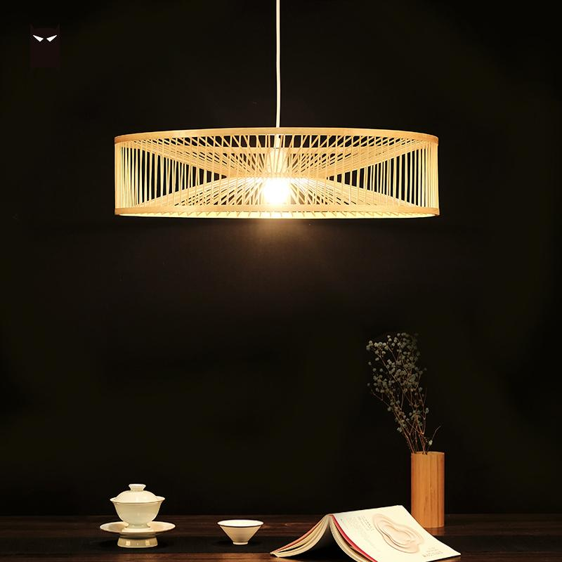 60cm Bamboo Wicker Rattan Shade Pendant Light Fixture