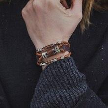 Мужские украшения Новинка Love Rock в стиле панк прохладный Для мужчин браслеты для женщин Pulseira masculina Пояса из натуральной кожи браслет