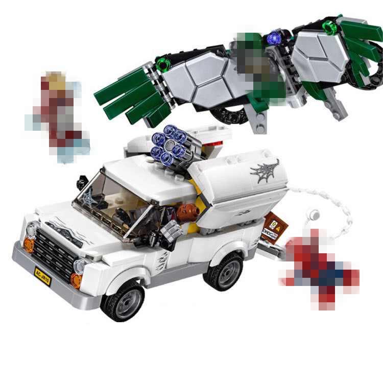 LEPIN Super Heroes Beware the Vulture Building Blocks Sets Kits Bricks Movie Batman Model Kids Toys Marvel Compatible Legoe
