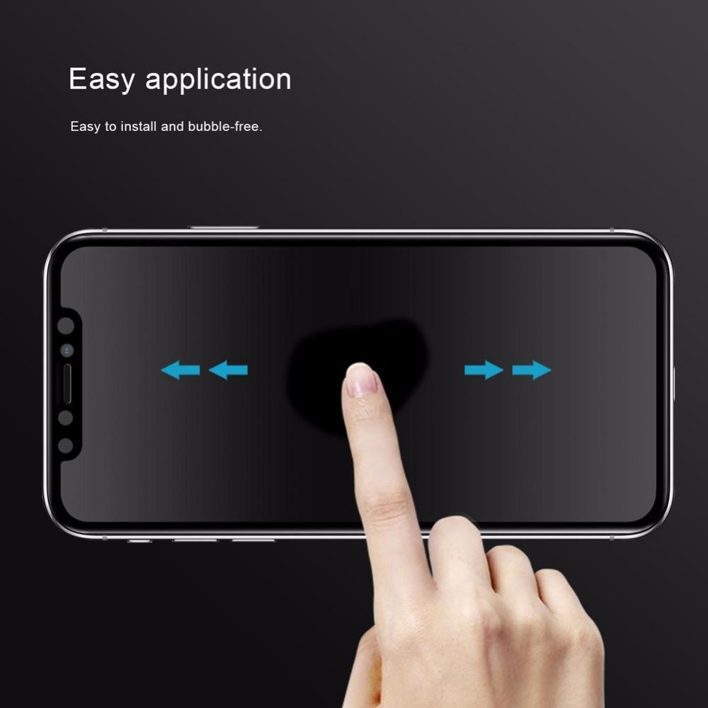 Nillkin Anti Spy Kaca Tempered untuk iPhone 11 Pro Max X XR XS MAX - Aksesori dan suku cadang ponsel - Foto 5