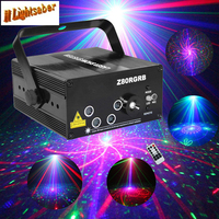 5 Lens 80 Patterns Projector Light And Music For Disco Party RGB Disco Laser Show Stage
