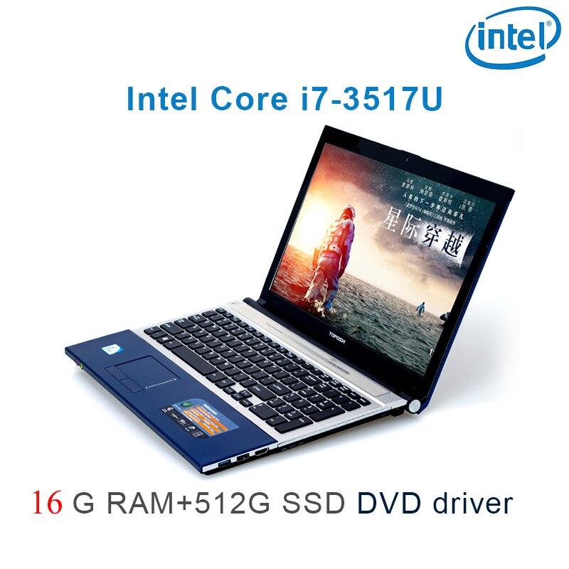"""רשימת הקטגוריות 16G RAM 512G SSD השחור P8-27 i7 3517u 15.6"""" מחשב נייד משחקי מקלדת DVD נהג ושפת OS זמינה עבור לבחור (1)"""