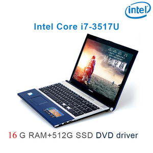 "P8-27 black 16G RAM 512G SSD i7 3517u 15.6"" gaming laptop DVD driver keyboard and OS language available for choose"