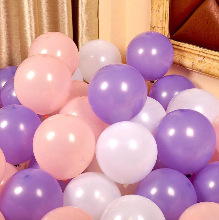 Lila Und Rosa Serie Latex Ballon Aufblasbare Hochzeitsdekorationen Luft Ball Happy Birthday Party Supplies Balloons In