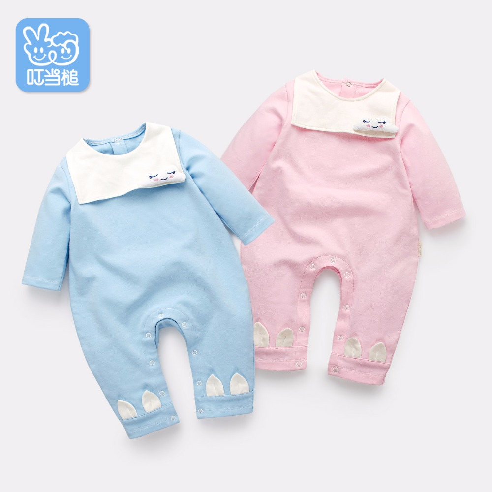 Dinstry Newborn clothes 0 - 12months baby cotton baby spring autumn wear long sleeves cartoon clothes Infant Jumpsuits dinstry newborn baby girl cotton romper jumpsuit long sleeved spring and autumn pink infant clothing clothes