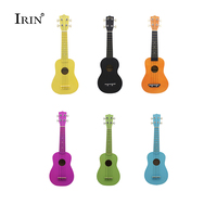 Soprano 6 Color Ukelele Wooden Ukulele 21 Inch Guitar 4 Strings Hawaii Acoustic Guitar Wood Fingerboard Instrument Free Shipping