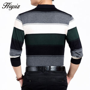 Image 5 - High Quality Cashmere Wool Sweater Men Famous Brand Clothing  Business Fashion Big Striped Turn down Collar Pullover Homme 66127