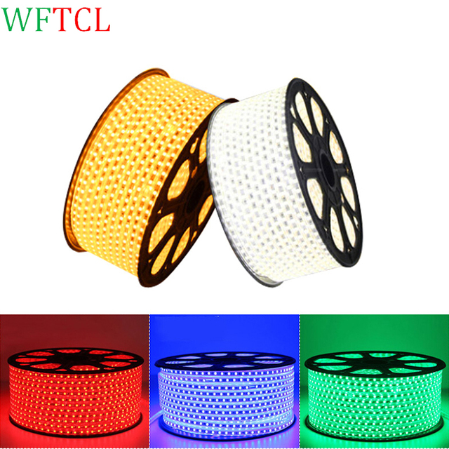 WFTCL LED Lighting Strips 60LED/M 5050 Flexible Outdoor LED Strip Lights  110VAC/220V