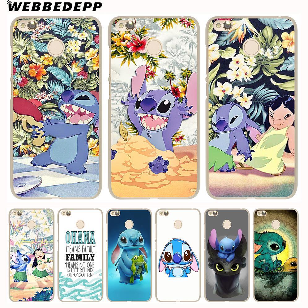 WEBBEDEPP LILO AND STITCH OHANA FAMIL Phone Hard Case for Xiaomi Mi 8 9 SE 5S 5X 6X 6 5 Mi A1 A2 Lite F1 Mix 2S MAX 3 Cover