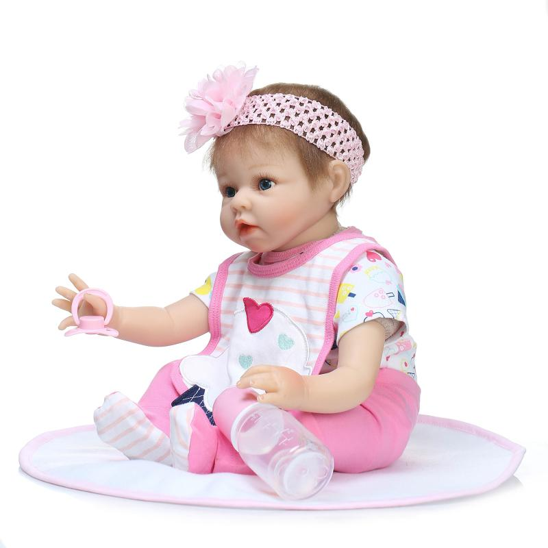 цены Real Looking Silicone Reborn Dolls Babies Boneca Soft Toys for Children Girls,Lifelike Reborn Dolls Babies with Clothes Headwear