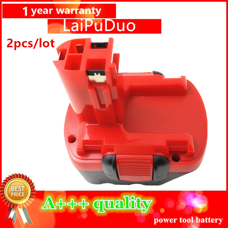 Ni-CD 2pcs 12v 2Ah Replacement For Bosch tool battery 2607335709/2607335249/2607335261/2607335262/2607335273/ GSR12-1 GSB12VE-2
