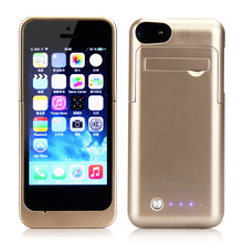 YOTEEN 2200mAh Power Bank Back Cover for iPhone 5s Case Backup Charger Case for iPhone 5c 5s SE Battery Charge Case Stand Design