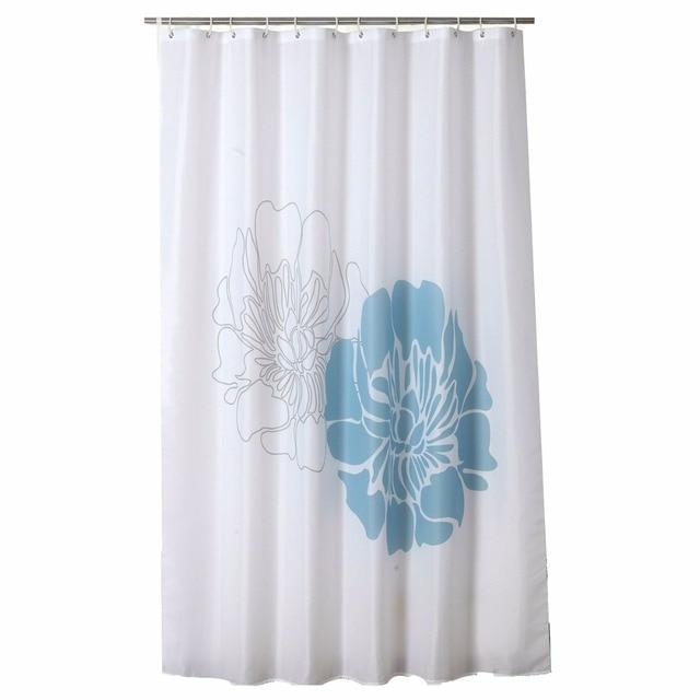 Elegent Flower Designer MildewFree Water Repellent Fabric Shower Curtain  Liner Bathroom Polyester Waterproof Home Window Curtain