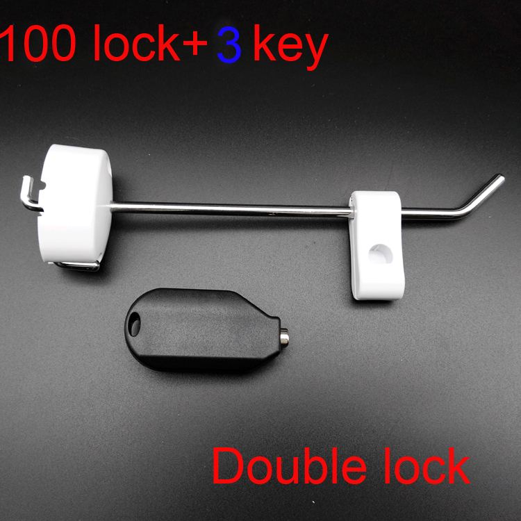 103pcs Wall-mounted Locking Hook Retail Stop Display Anti-theft Supermarket Anti-lost Slatwall Display Hooks 15/20cm 304 stainless steel anti theft door anti collision rubber touch the suction resistance wall mounted stop toilet