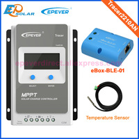 EPEVER Solar MPPT Charger 20A lcd display high efficiency controller with BLE function and temperature sensor MPPT Tracer2210AN