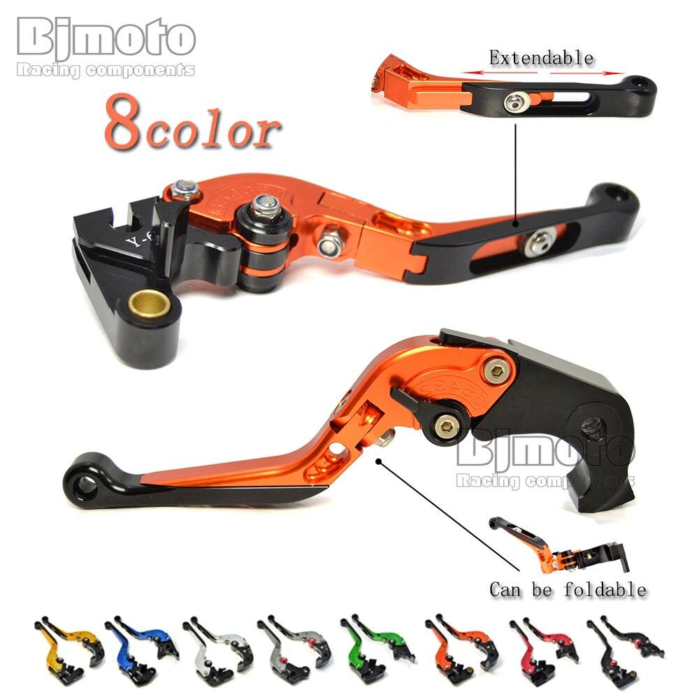 ФОТО LS-001-F33/H33-OR Orange Frenos Motocicleta CNC Folding Motorcycle Brake Clutch Levers For Honda CB1000R CBR1000RR / FIREBLADE