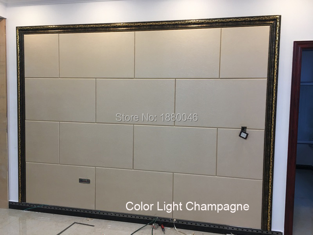 Brand New 6pcs Light Champagne Faux Leather Panels Custom Eco Friendly Wall Decoration PU Leather Panel 3D Wall Panel