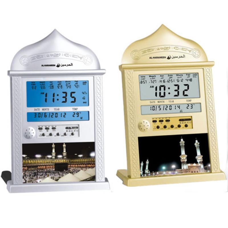 Мусульманские все молитвы полный 1150 городов супер Азан Настольные часы стоит Исламская стена