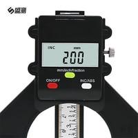 Chiều Sâu kỹ thuật số Đo LCD Lốp Tread Đo Từ Tính Tự Thường Vụ Feet Khẩu Độ 80 mét Tay Router Sâu Đo Công Cụ Đo Lường D1030