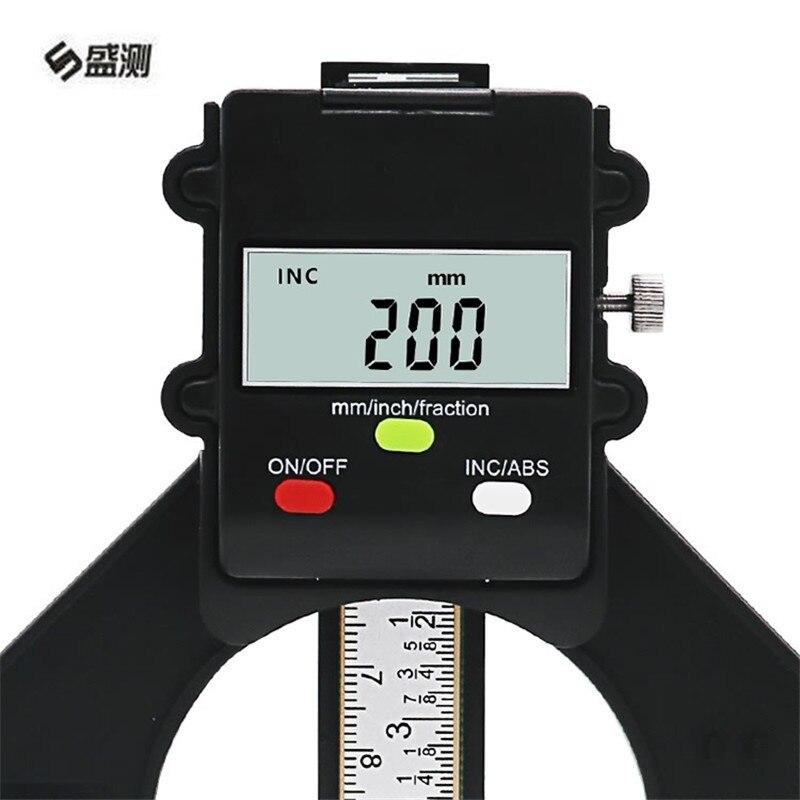 Digital Depth Gauge LCD Tyre Tread Gauge Magnetic Self Standing Feet Aperture 80mm Hand Router Depth Gauge Measuring Tools D1030