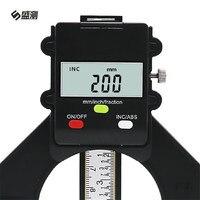 Neumático Medidor Digital LCD Medidor de Profundidad Magnética Auto de Pie Pies Medidor de Profundidad de Apertura 80mm Mano Router Herramientas D1030