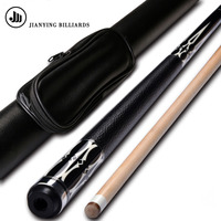 Jianying PB16 Pool Cue Stick 12.75mm with Extension Black Pool Cue Case China 2019