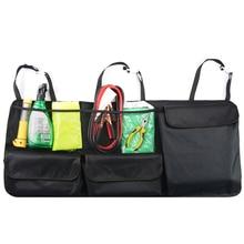 Багажник автомобиля, организатор регулируемый задний сумка для хранения чистая высокая Ёмкость многофункциональный Оксфорд автомобильные сиденья назад организаторы Универсальный