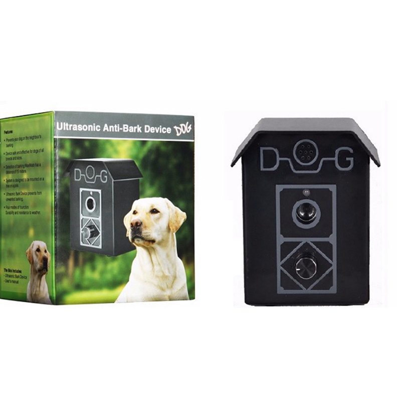Dog Ultrasonic Anti Barking Device Outdoor Hanging Sound Control Stop Barking Sonic Deterrents Silencer Tools Training Supplies