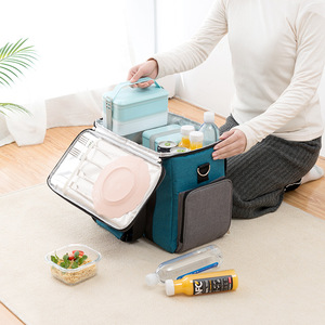 Image 4 - Large Capacity Cooler Bags Oxford Insulation Lunch Box Thermal Drink Beer Ice Pack Travel Picnic Backpack Food Fresh Keeping