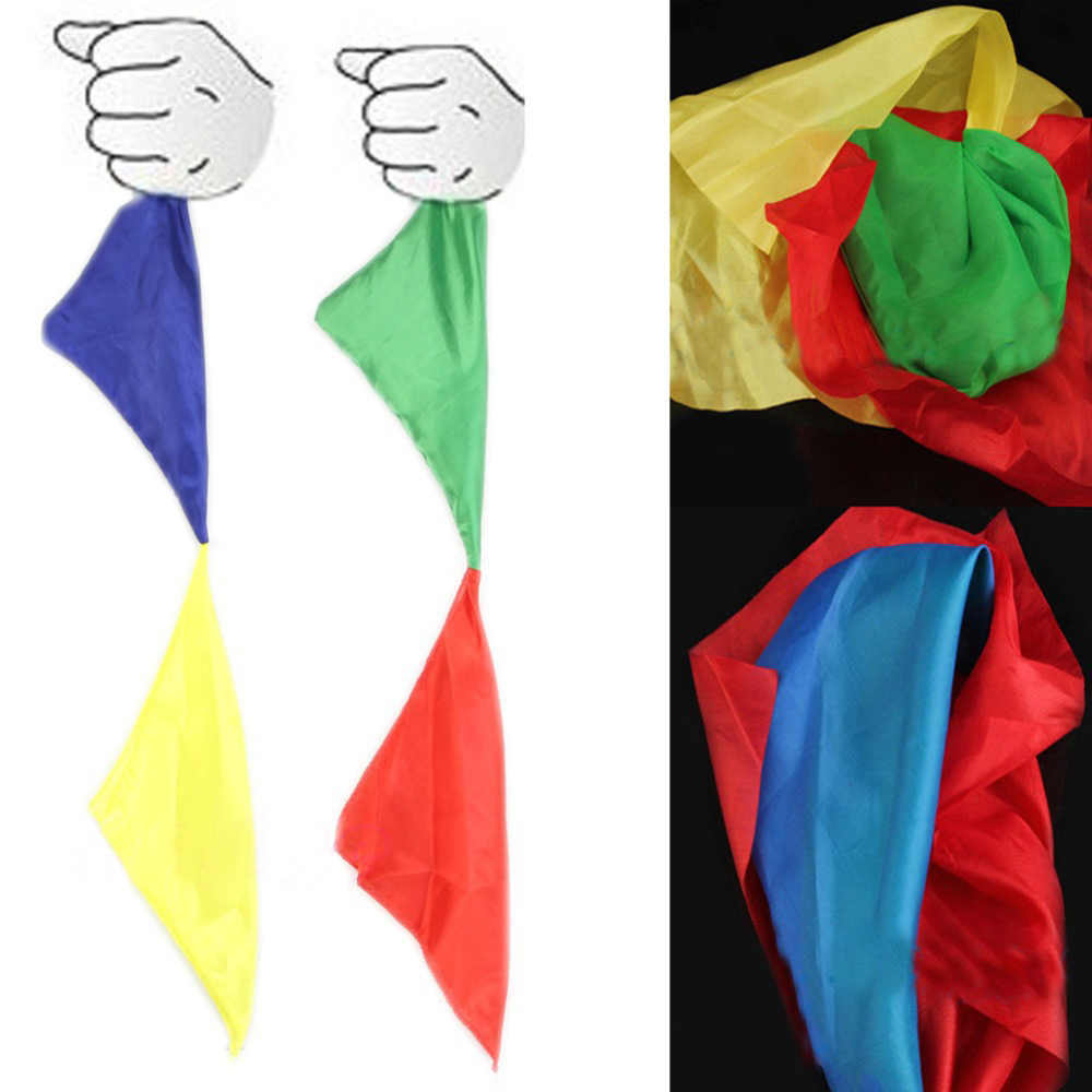 Hot Nieuwe Kleur Veranderen Sjaal Voor Magic Trick Close-up Goocheltrucs Sjaals Straten Props Gereedschap Speelgoed Kid Gift Gratis verzending