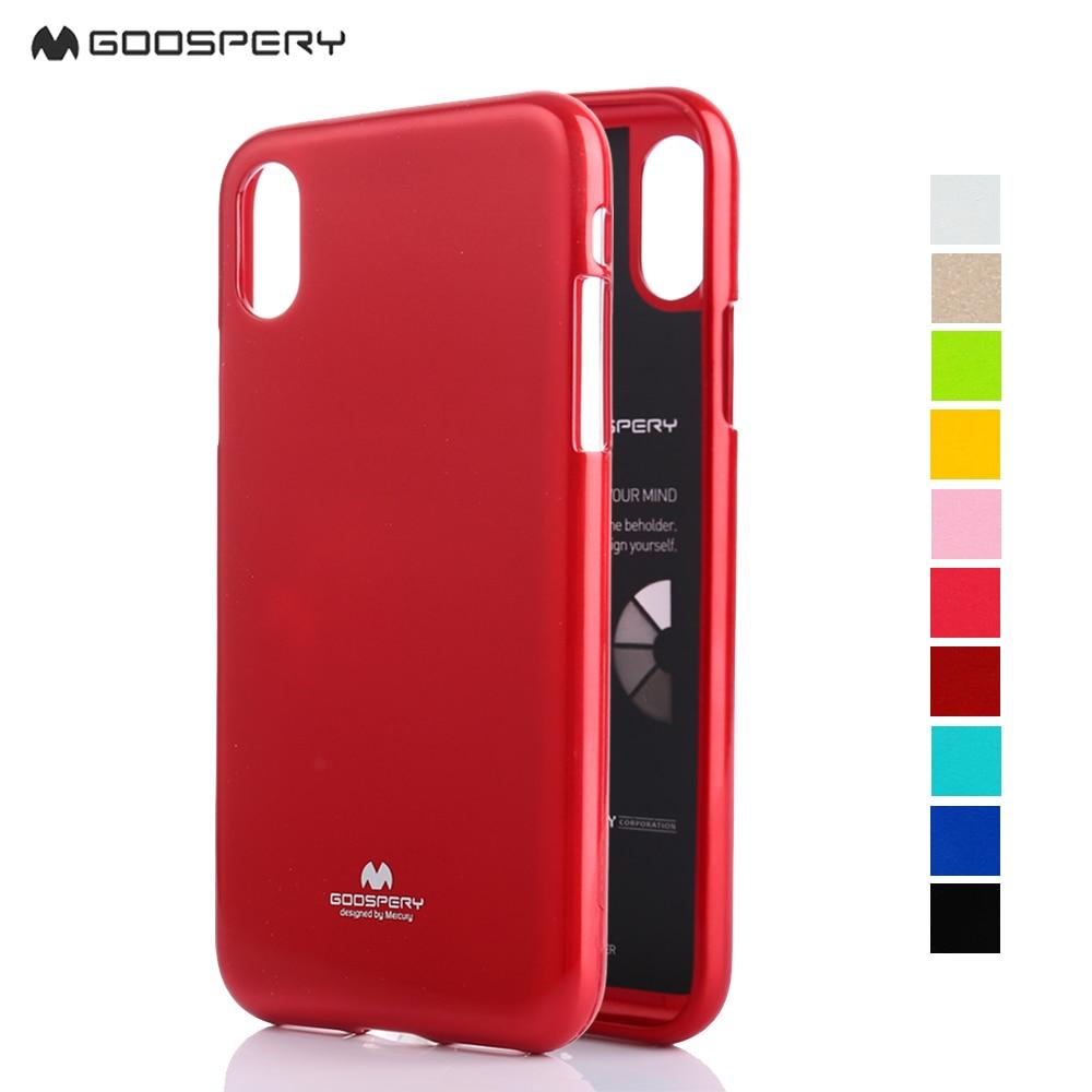 Mercury Goospery I Jelly Tpu Bumper Case Slim Metallic Cover For Iphone 8 Fancy Diary Navy Lime 4 4s 5 5s Se Phone Original Flash Powder 6