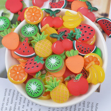10Pcs Cute Diy Lizun Fruits Slime Supplies Accessories Phone Case Decoration for Slime Filler Miniature Resin Fruits Candy candy fruits 04 decor декор 10x30