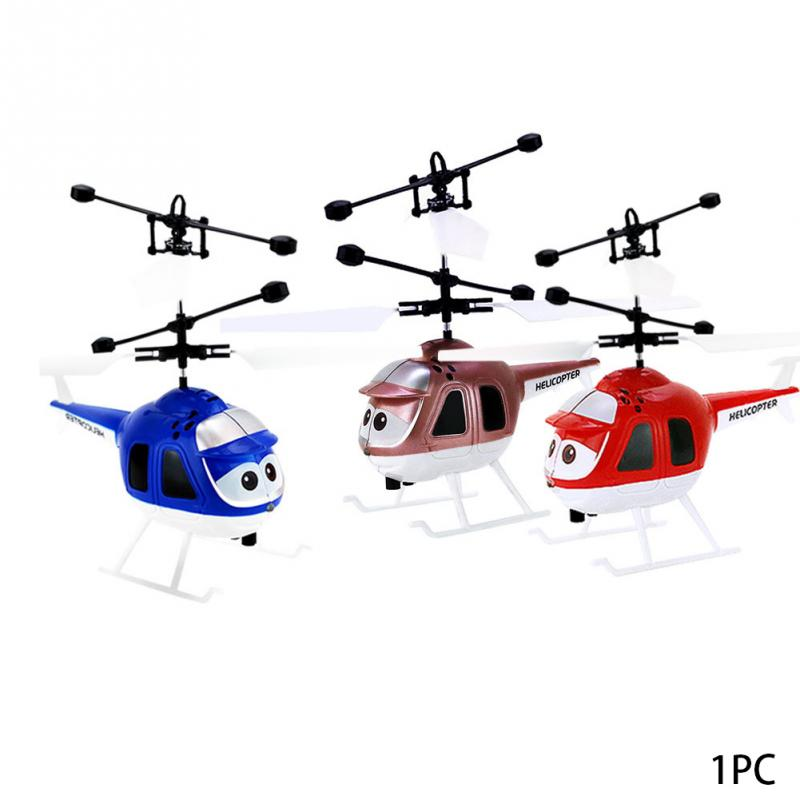Highest Flying Mini RC Infrared Induction Aircraft 2CH Flashing Light Childrens Toys USB Charging Remote Control Airplane