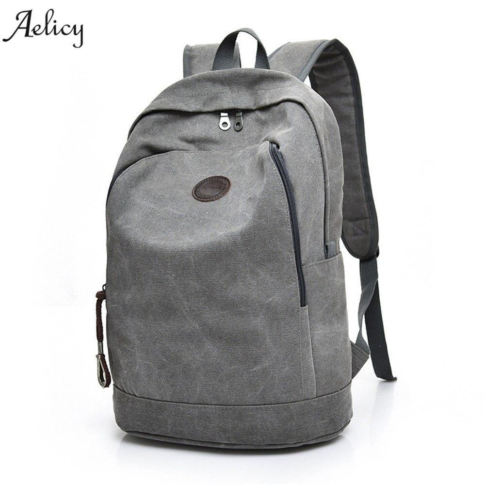2018 Man's Canvas Backpack Travel Schoolbag Male Backpack Men Large Capacity Rucksack Shoulder School Bag Mochila Escolar