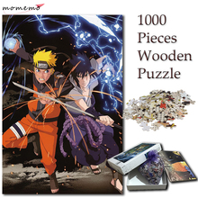 MOMEMO Jigsaw 1000 Pieces Puzzles for Adults Naruto Sasuke Fighting Scene Cartoon Puzzle Games Kid Children Gift