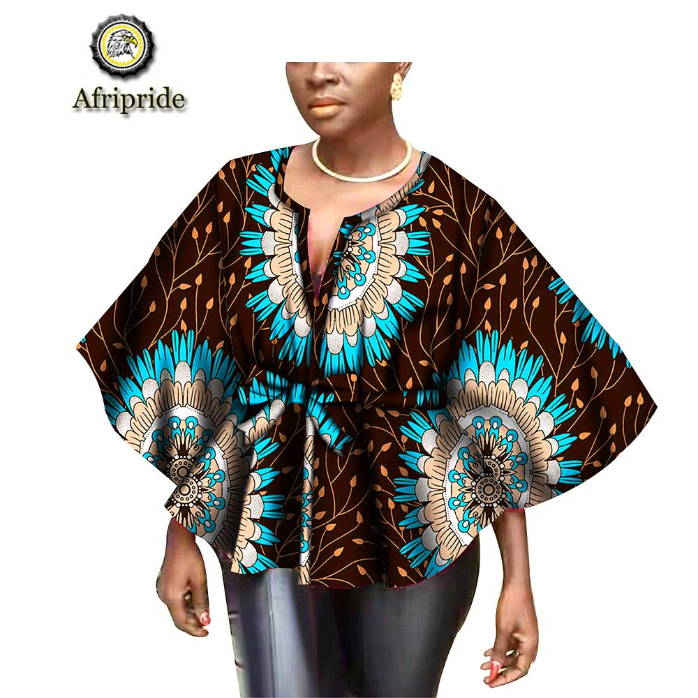 2019 spring african clothing for women ankara blouse print outfit dashiki tops bazin riche pure cotton jacket AFRIPRIDE S1822007 cardigan