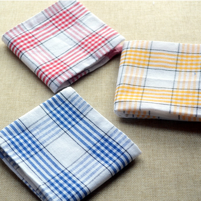 3PCS Pack Design Retro Plaid Checked Fashion Cotton Kitchen Towels ...