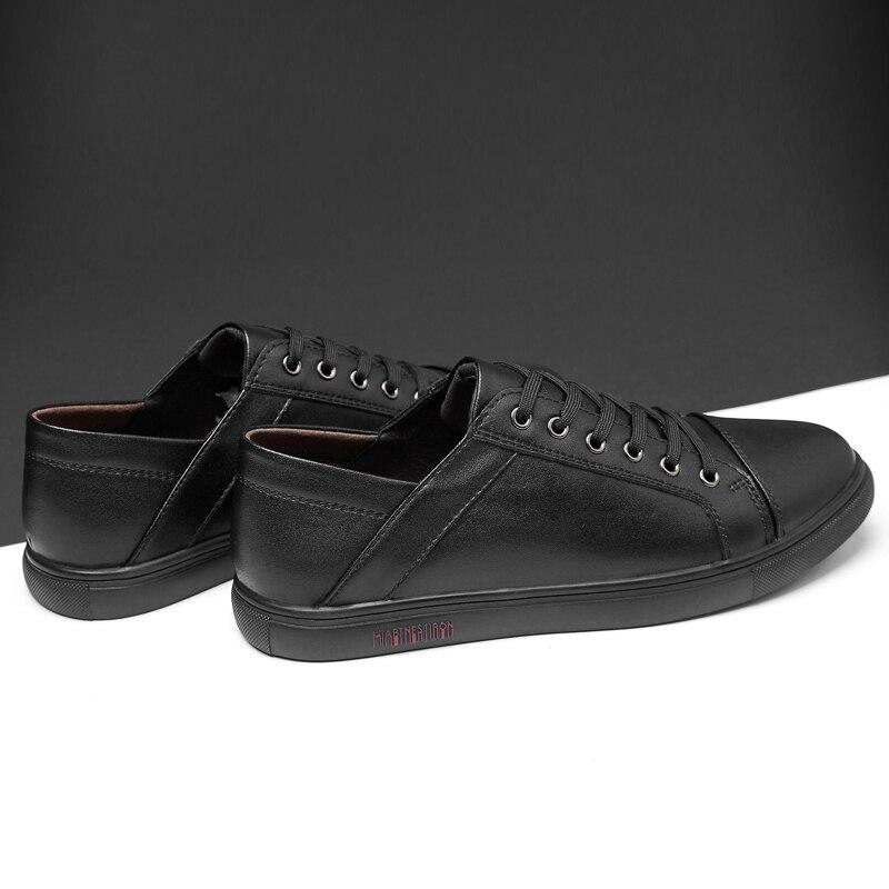 Chaussures décontractées homme appartements chaussures respirantes en cuir mode plat classique en plein air hommes chaussures pour appartements baskets confortables C4