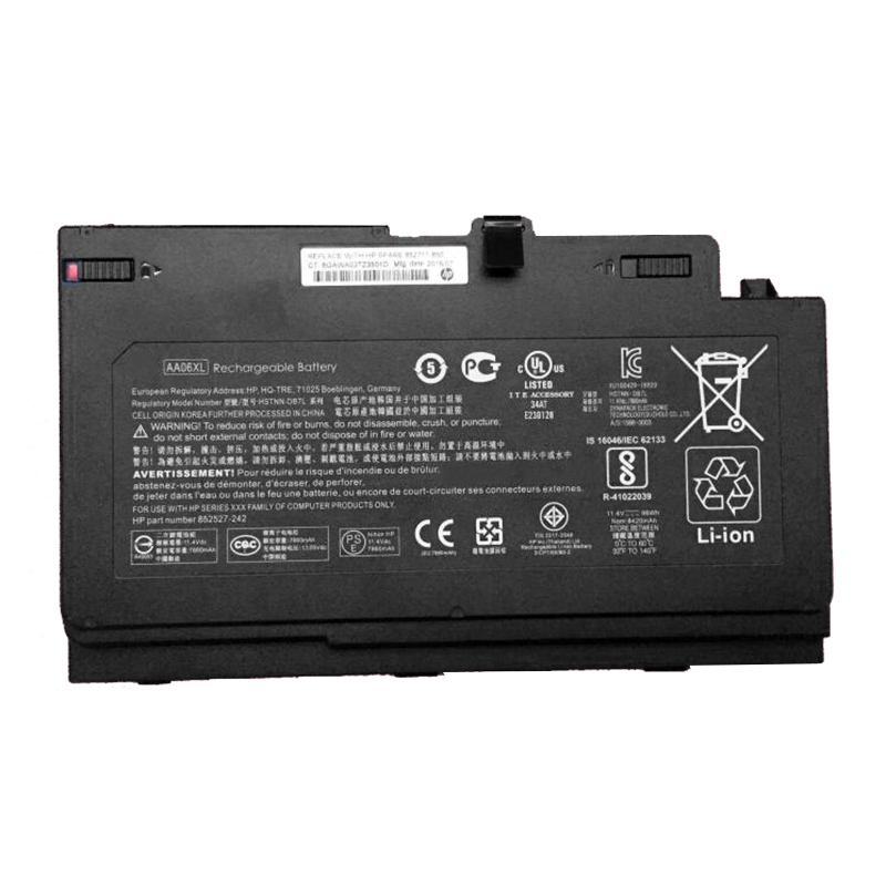 Image 4 - GZSM laptop battery AA06XL for HP ZBook 17 G4 2ZC18ES battery for laptop G4 1RR26ES HSTNN DB7L 852527 242 laptop battery-in Laptop Batteries from Computer & Office
