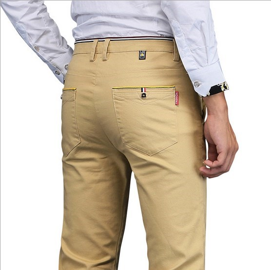 Mens Slim Fit Dress Pants Plus Size Formal Pants Men Skinny Formal Suit Trousers Casual Pantalones