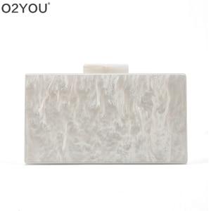 Image 5 - Personalizado nome da letra esposa pérola branco com ouro glitter acrílico bolsas senhora festa de viagem noite caixa acylic embraiagens bolsa