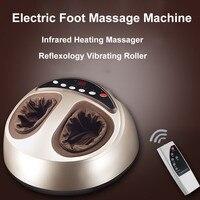 Электрический массаж ног машина инфракрасный обогрев массажер для ног с шиацу рефлексотерапия Вибрационный ролик здоровья расслабляющий